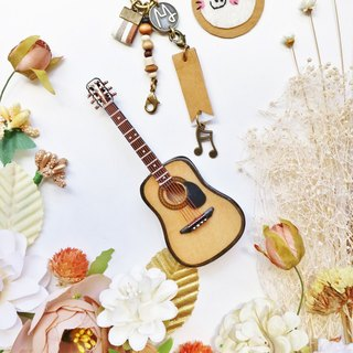 [Folk guitar] mini guitar mini model charm packaging accessories custom texture gift