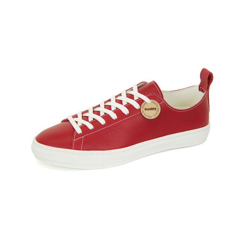 Bull Terrier Low Smooth Red / レッド レザー スニーカー