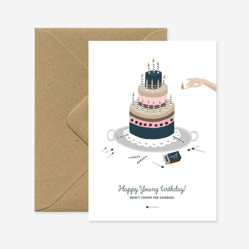 Gorgeous birthday cake birthday card