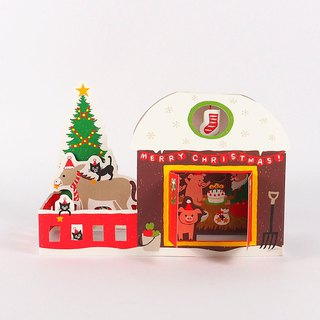 Three little pigs want to eat Christmas cakes [Hallmark-card Christmas series]