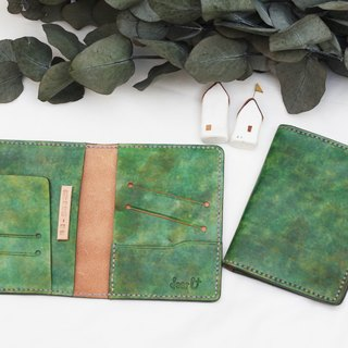 Meaning of travel - Home | Vegetable tanned leather passport case - Emerald color
