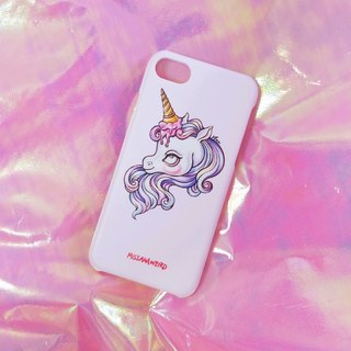 Dark sweet wind illustration ice cream unicorn Iphone phone case