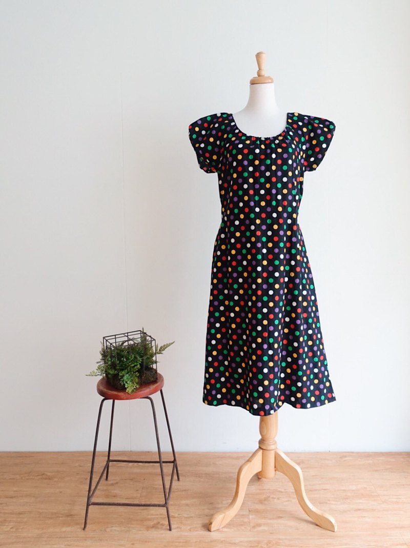 Vintage / short-sleeved dress no.130 tk
