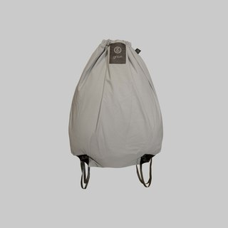 grion bag - back section (L) white plaster grid embossed section