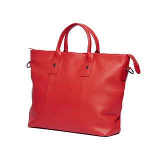 Big Boy Briefcase / Mr. Big Bag / Cowhide / Side Bag / Red / Limited