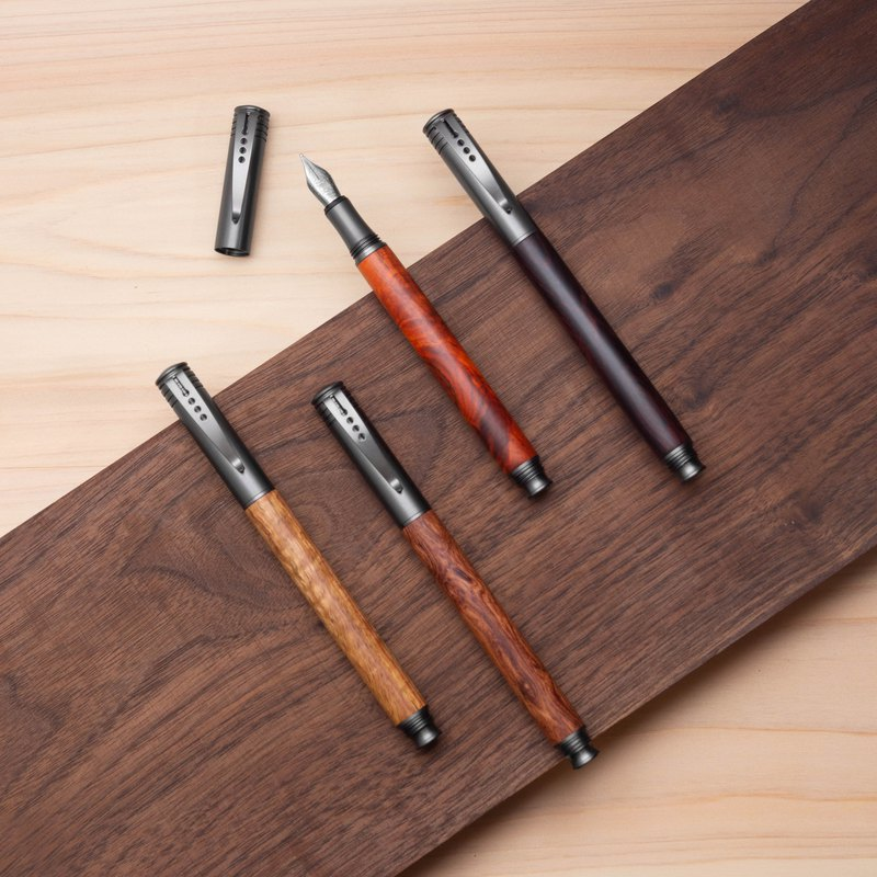 Solid wood fountain pen | Lightweight advanced model, laser engraving