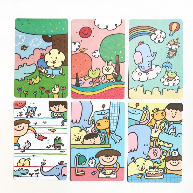 Postcard set_Happy Planet