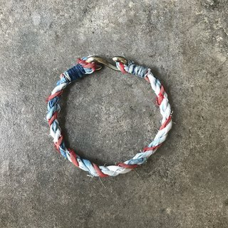 [Fasti] When Indigo Blue dyed grass dyed cloth bracelet