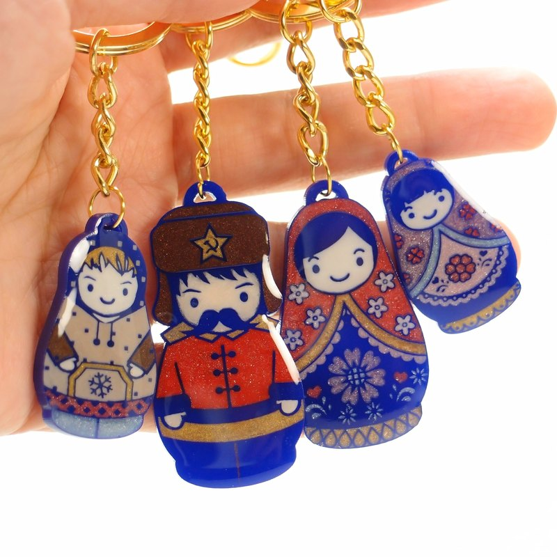 Russian doll a key ring hand made limited edition gift
