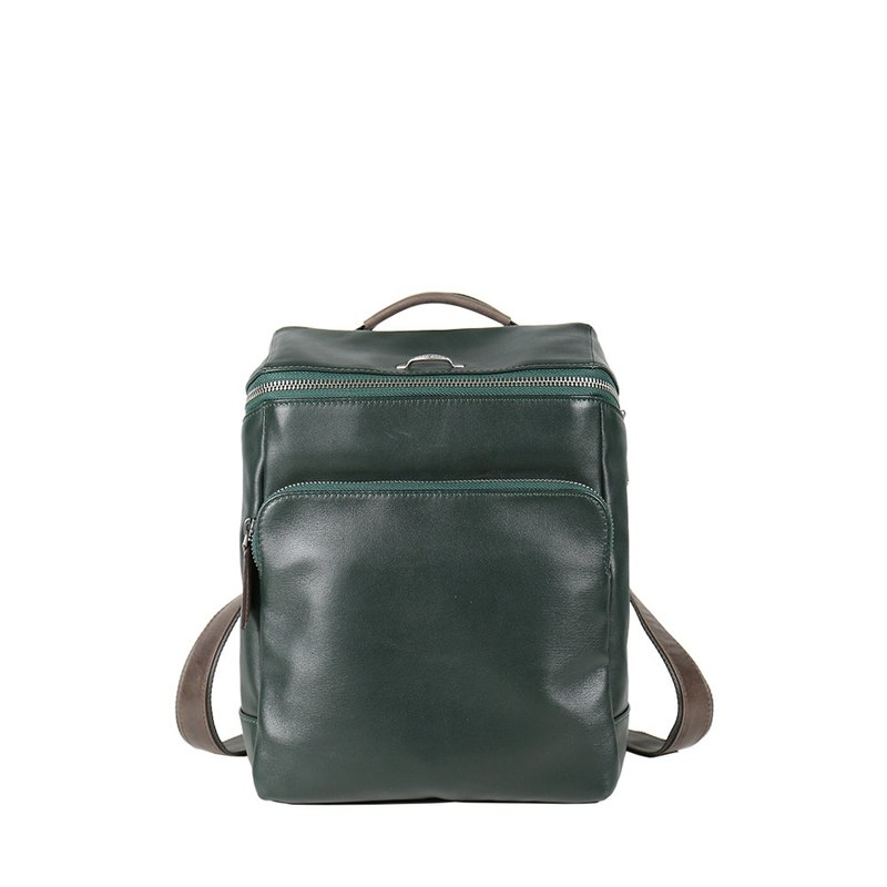 [HANDOS] Cosmopolitan leather fashion backpack - dark green (last piece)
