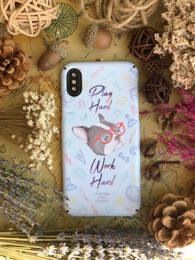 French Bull Dog hard phone case