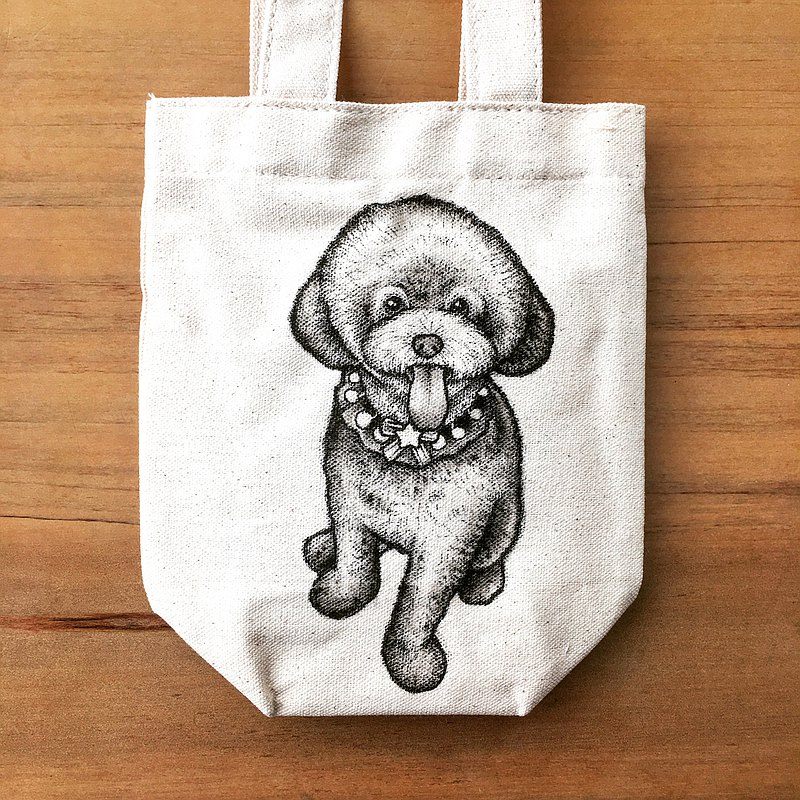 Pet sketching, Customized hand-painted canvas bag