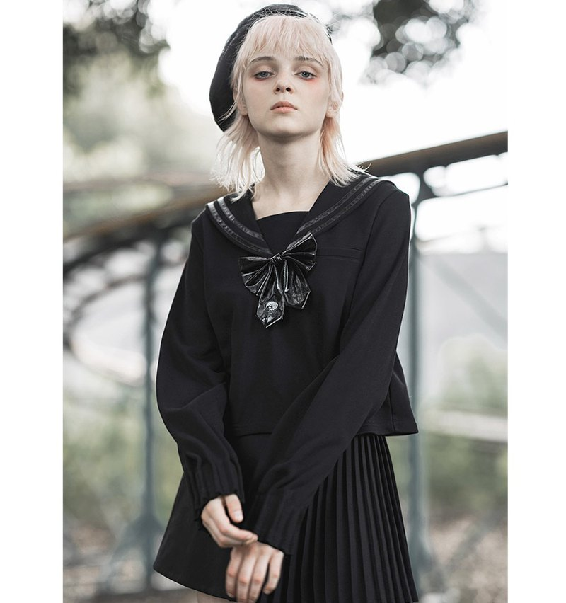 Gothic Shadow Academy Sailor Suit Top