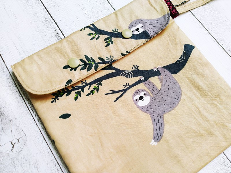 Smiling sloth Korea fine cotton bag cover rope version of the environmental food bag