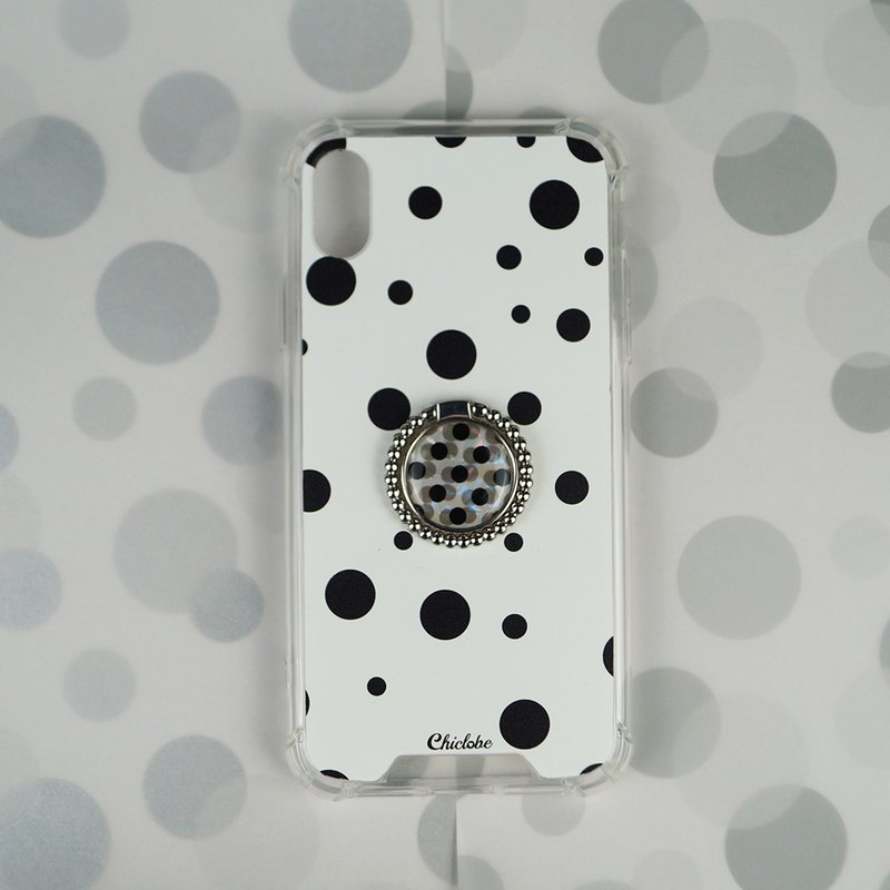 Dot-ring buckle four corner anti-drop mobile phone case