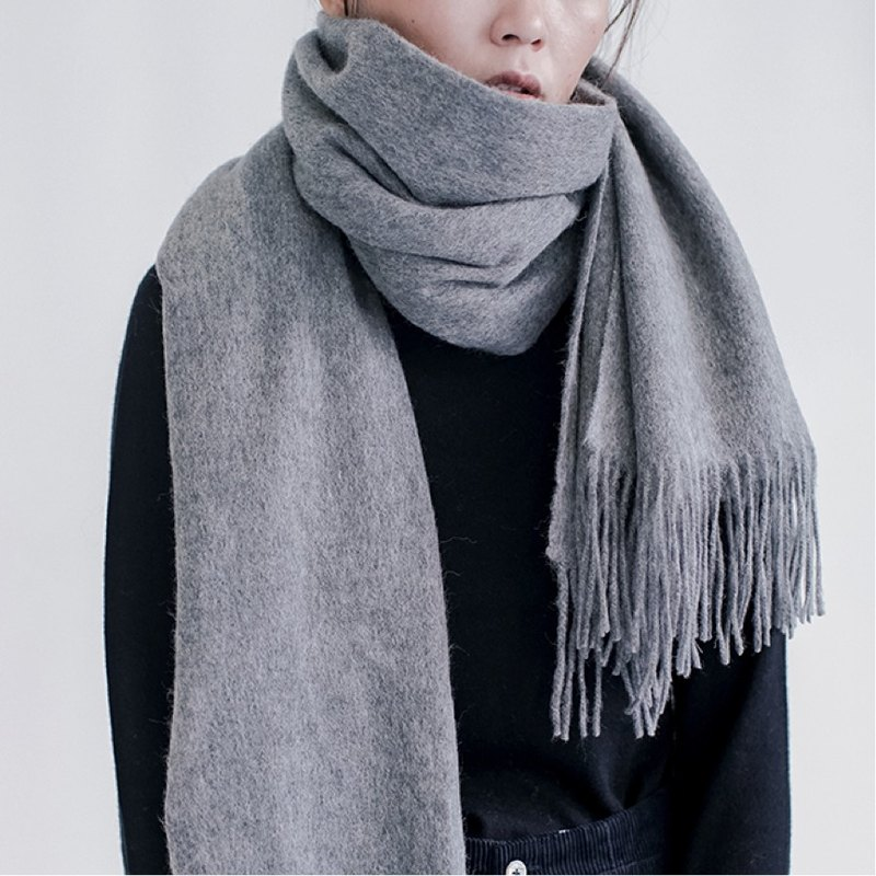 Dark gray 11-color full wool letter, please come with a hand, a big scarf, shawl, warm autumn and winter