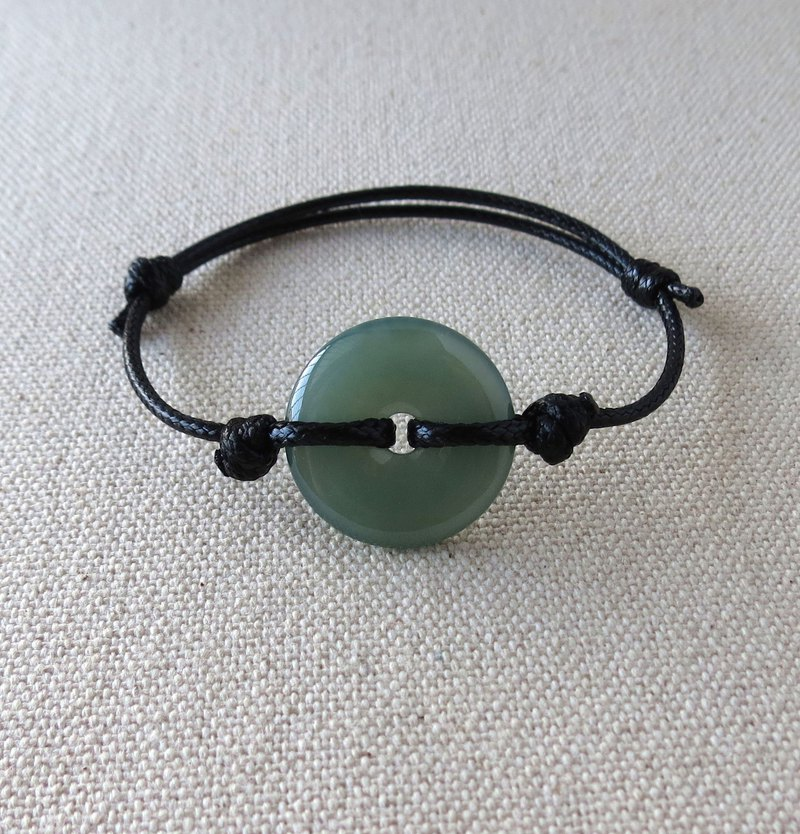 The Birth Year Safety Wish 糯 Ice Safe Buckle Jade Korean Wax Line Bracelet Evil Spirits Body Protection