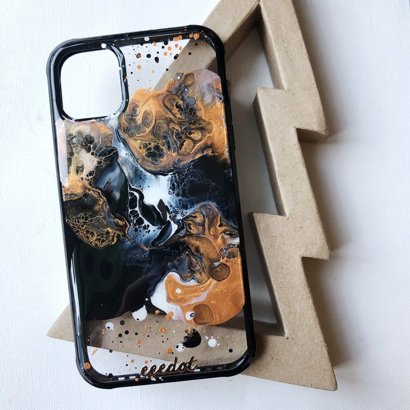 IPHONE 11 | Black Copper Rust | Anti-fall mobile phone case with four sides