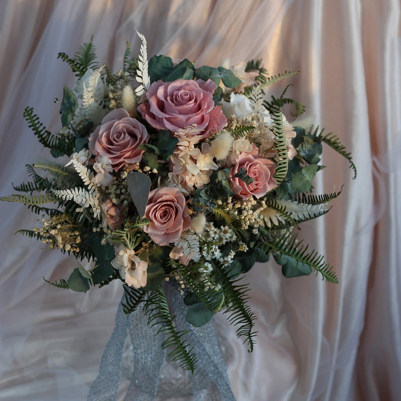 Everlasting Flower Bouquet / Natural Wind Wedding Bouquet / Wedding Wedding
