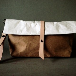 Roll Bag : Tyvek and Kraft paper bag long strap