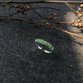 Greenfield - Natural Emerald (Burma Jade) Simple Style Ring