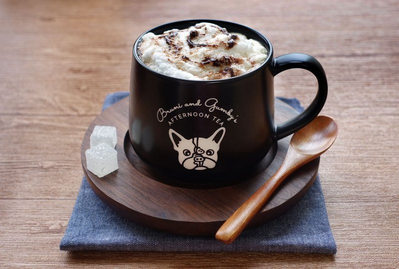 French Bulldog Coffee Mug  BLACK【3-Piece Set】