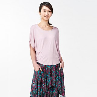 Top Clothing point classic small round design top - pink