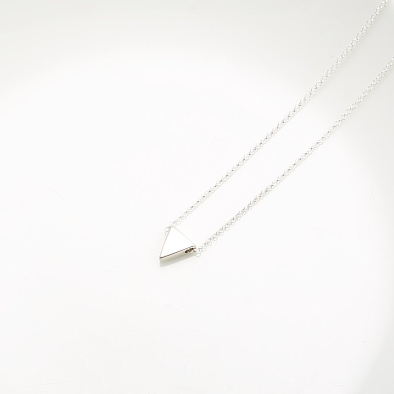 Simple Triangle s925 sterling silver necklace Valentine's day Birthday gift