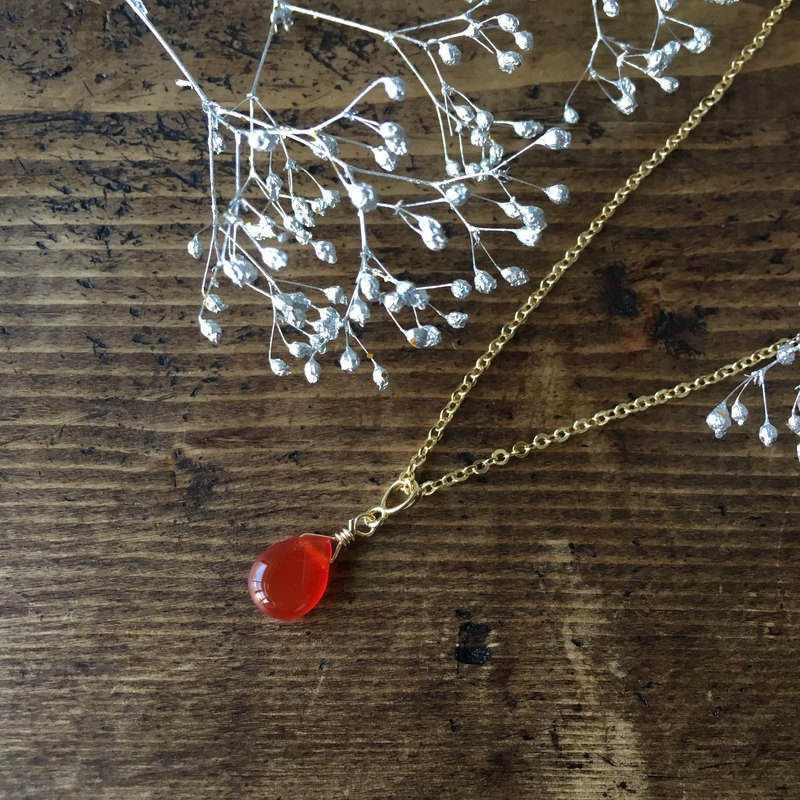 【Birthstone in July】 Carnelian · Necklace giving energy