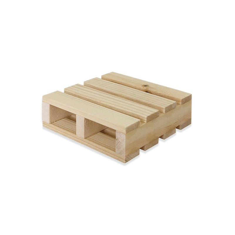 Fir pallet coaster wood color CU028