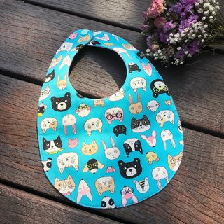 Cat big collection double sided bib