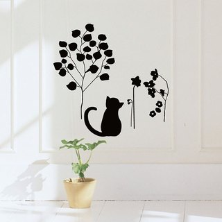 "Wall stickers - Taiwan creative traceless ""Smart Design"" leisurely cat"