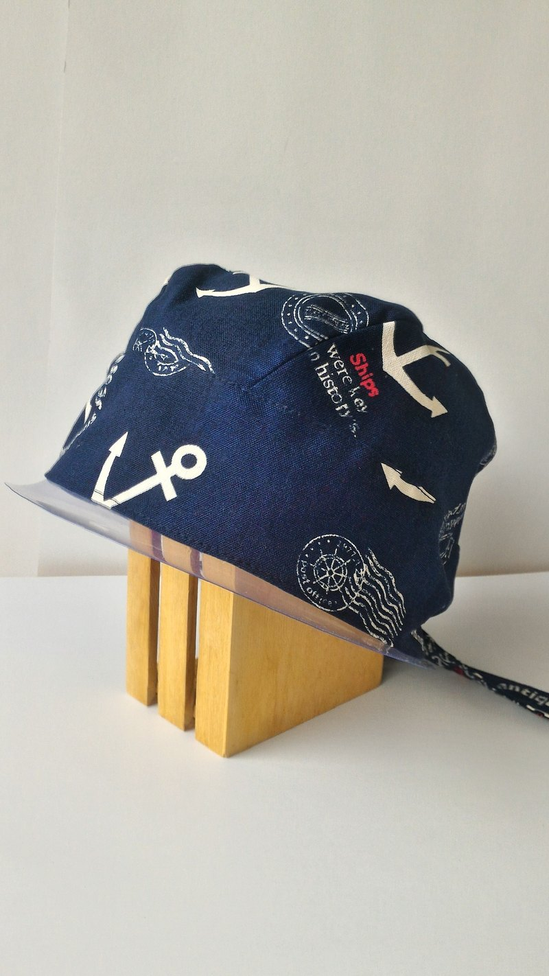 Nautical double-sided hooded cap cooking cap work cap