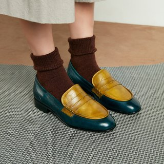 H THREE PENNY Love shoes / flat / moss green / malachite green