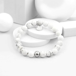 Recovery Bright 8MM Beaded Bracelet (White)