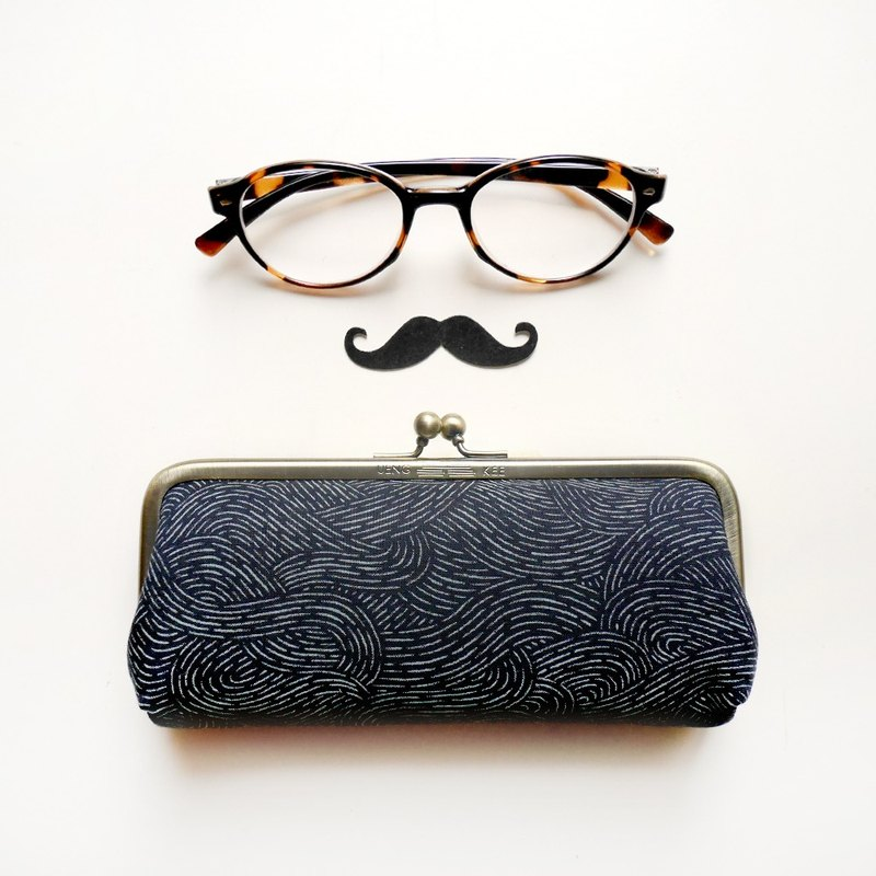 June Wandering Glasses Gold Bag / Pencil Bag / Cosmetic Bag 【Made in Taiwan】