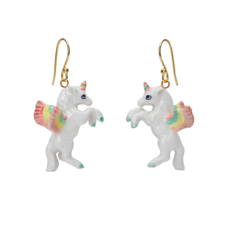 And Mary Flying Pastel Unicorn Earrings | Gift Box