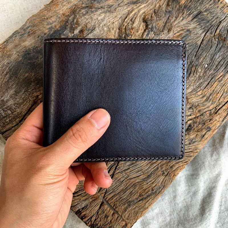 Cowhide short clips, minimalist leather