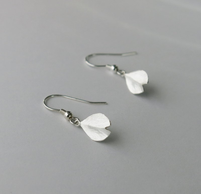 Cherry Blossom-Sakura- Single Petal Silver Earrings