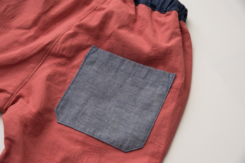 Hand made child carrot pants - orange