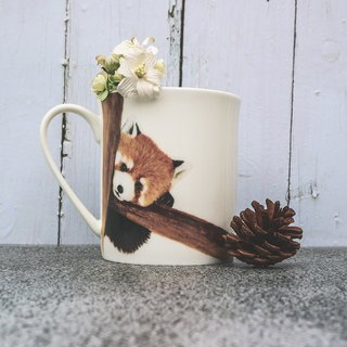 Bone China Mug - Healing Kitten Bear / Red Panda / Microwave / by SGS