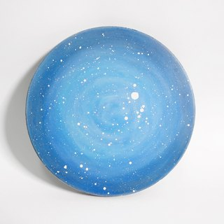 Starry Hand Painted Coaster / Blue Planet