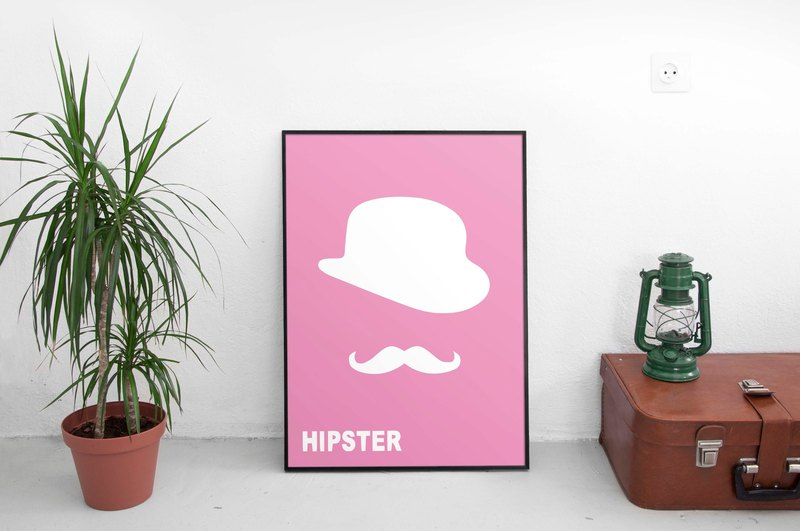 Hipster! # 2 (background color can be changed)