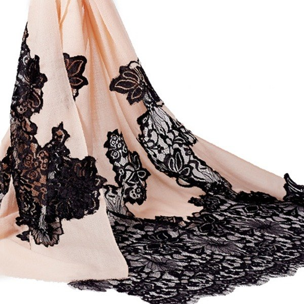 [Angel Woolen] elegant French Pashmina Indian handmade lace shawl scarf
