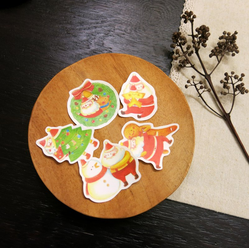 Happy Christmas / Christmas limited waterproof stickers