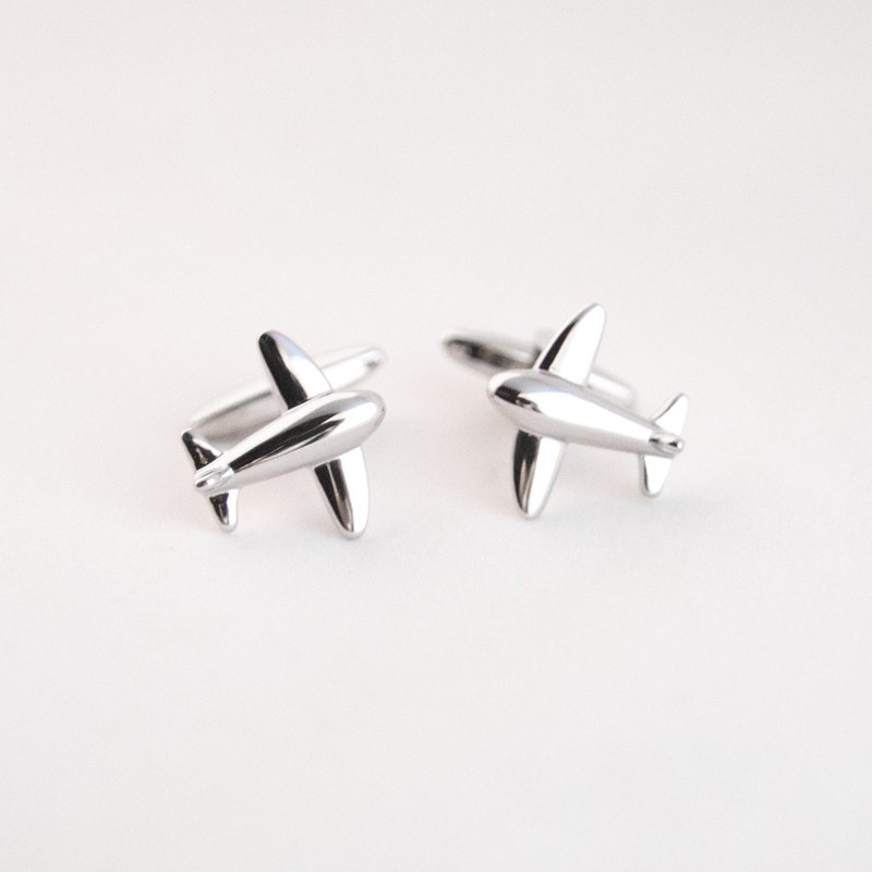 Simple Silver Small Cufflinks Sliver Plane Cufflink