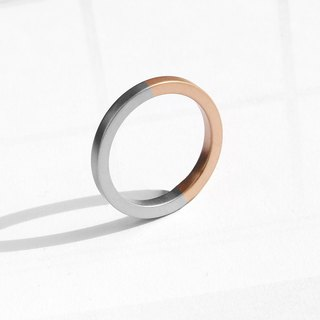 Two-Tone Minimal Ring | Matte Rose Gold