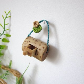 Miniature wall hanging with drawer, wood carving