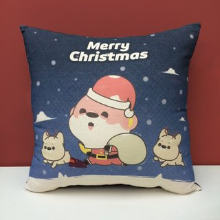 Christmas Special Illustrator Aojia Monkey Christmas Acacia Monkey Cotton Canvas Pillow