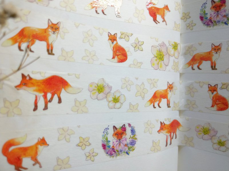 Flowers and Fox Paper tape